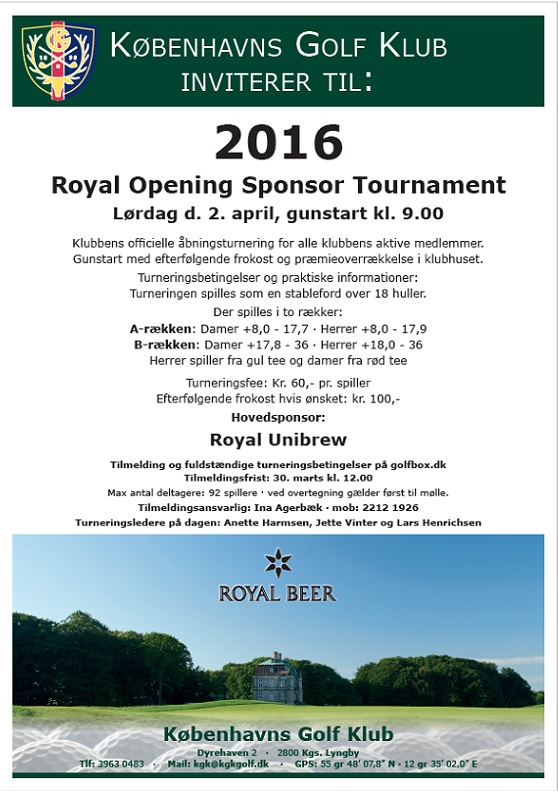 Åbningsturnering 2016