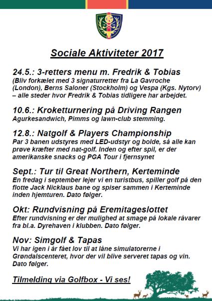 aktiviteter i KGK